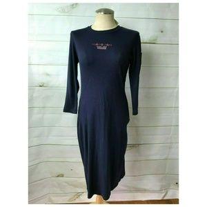 🌺NEW Vtg Tommy Hilfiger Long Sleeve Maxi Dress, S